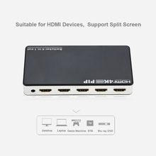 2160P 4 HDMI Port Female to 1 Female 4 In 1 Out HD Video Image Split Screen Adapter Converter With USB Power for DVD HDTV PC TV(China)