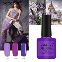 10ml Pink Purple Colors Nail Gel Polish UV Gel Lak Lacquer Gel Varnish Gelpolish Vernis Semi Permanent DIY Nail Art Design Tools(China)
