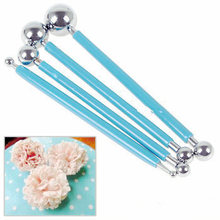 4pcs Stainless Molding Ball Tool Sticks Sugarcraft Fondant Cake Decorating Kit Flower Molds Kitchen Dessert Decoration Supplies