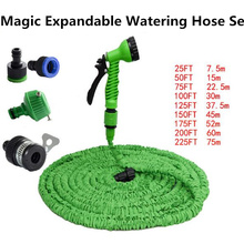 25FT-200FT Magic Garden Hose Expandable Watering Hose Reels With Spray Gun Car Home Cleaning Washing Water Hose Tools Set(China)