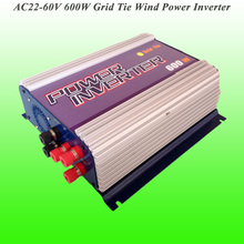 2017 Hot Selling 600W Three Phase AC22V~60V Input, AC 115V/230V Output Grid Tie Wind Power Inverter With LCD Display