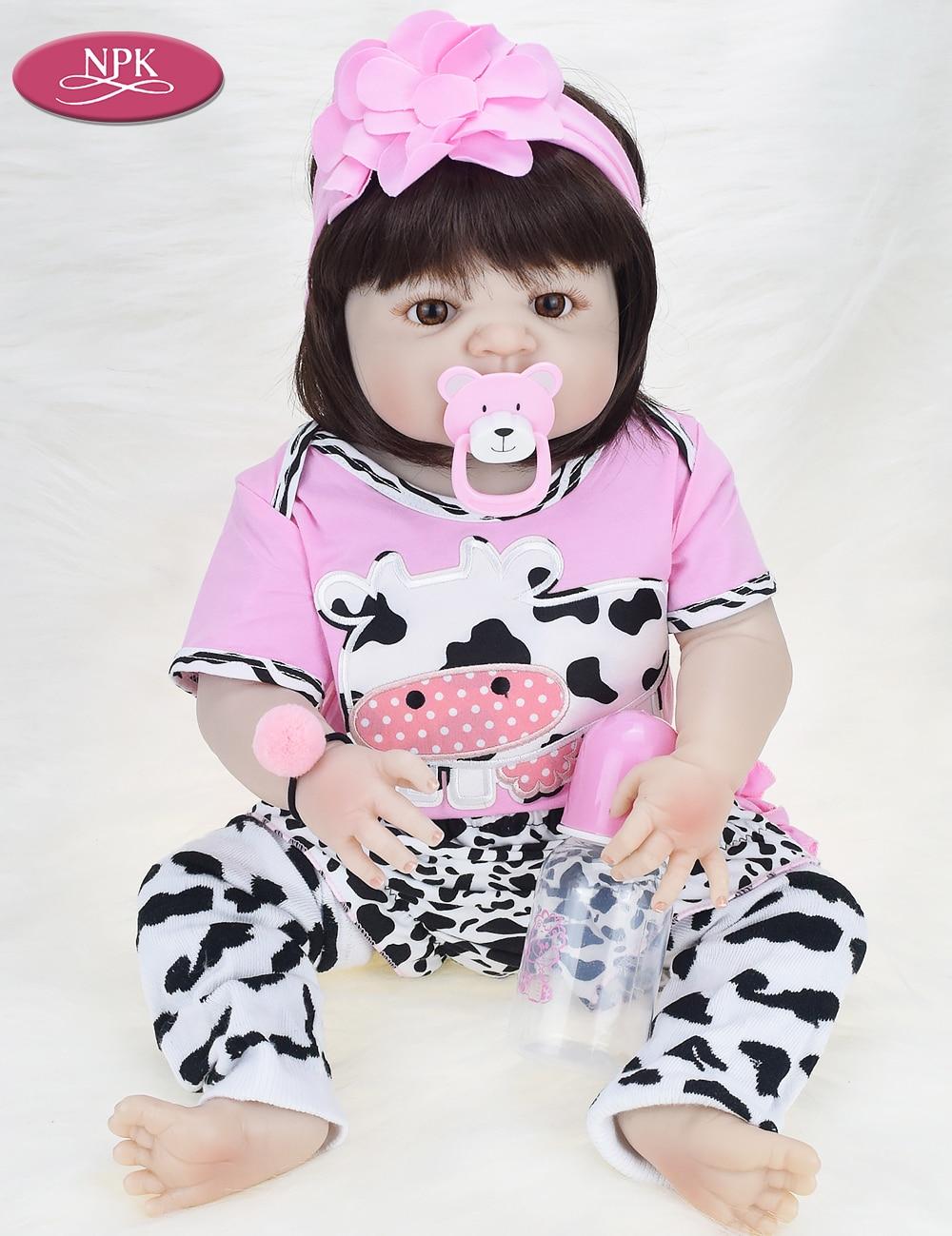 NPK Real 57CM Full Body SIlicone Girl Reborn Babies Doll Bath Toy Lifelike Newborn Princess Baby Doll Bonecas Bebe Reborn Menina (6)