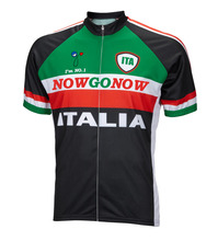 Men Cycling Jersey  Italy New Road MTB Bike Clothing Black Green Cycling Wear Racing Bicycle Clothes Cycling Clothing Nowgonow