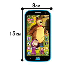 New Kids Mobile Phone Toy Masha And Bear Russian Language Kids Electronic Music Toys Cellphone Telephone Gifts For Baby