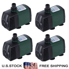 Pack of 4,110V,119GPH Submersible Water Pump Fish Tank Aquarium Pond Fall Hydroponic Fountain