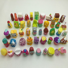 50 pcs/lot Store Family Shopping Toys Hard PVC SQUINKIES Size 3cm Several Styles Random Mixed