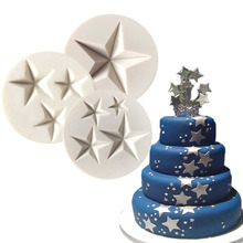 Three kinds of Stars Shaped Silicone Pastry Tool Cake Decorating Mold Baking Tool Fondant Cake Tools