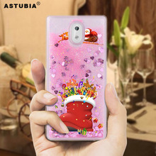 Christmas Gift Liquid Case For Nokia 5 Case Silicone Cover Christmas Socks Tree Santa Claus Cover For Nokia 6 5 3 Case Snowmen(China)