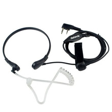 Black Retevis Mic Covert Acoustic Tube Earpiece Earphone PT for Kenwood BAOFENG 5R Baofeng 888S QUANSHENG WOUXUN TYT Radio Hot(China)