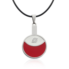 Fashion Naruto Logo Necklace Jewelry Circular Red White Round Pendant Necklace Trendy Alloy Pendant Jewelry Wholesale