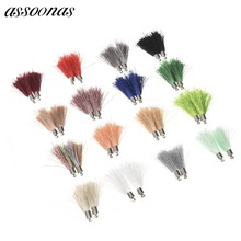 assoonas L45/jewelry findings/jewelry accessories/accessory parts/Silk tassel 10pcs/bag/diy jewelry findings/jewellery making(China)