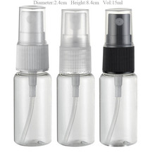100 x15ml Clear Protable Travel Mist Plastic Perfume Bottle 15cc Empty Spray Atomizer  Cosmetic Fragrance  container
