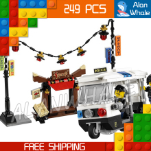 249pcs Ninja City Chase Police Officer Cars Creative Build 06053 Model Building Blocks Children Toys Bricks Compatible With lego(China)