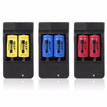 4pcs 16340 3.7V 2800mAh Safe Environmental Friendly Rechargeable Li-ion Battery + US Plug Charger Color Blue Yellow Red(China)