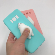 For Samsung galaxy S8 S7edge J5 A7 2016 2017 Lovely Heart Dolphin Pappy Squishy silicone Phone Cover for iphone 6 6s 7 plus Case
