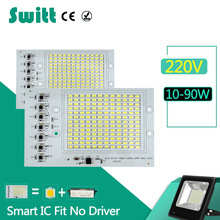 Switt LED bulb 220V Chips Smart IC 10W 20W 30W 50W 90W 240V led lamp driver free For Outdoor FloodLight Cold Warm White(China)
