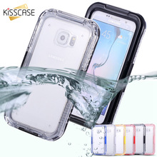 KISSCASE Waterproof Phone Case For Samsung Galaxy S4 S5 S7 S8 S6 Edge Plus Rubber Silicone Phone Cover For Samsung Note 4 Note 5