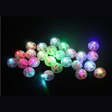 Romantic 50pcs/Lot Round White Led Ball Lamps RGB Color Changing Balloon Lights for Wedding Valentine's Day Party Decoration