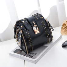 MIWIND High Quality PU Leather Women Crossbody Bags Fashion Rivet Famous Brands Designer Female Handbag Shoulder Bag Sa TZM1136(China)