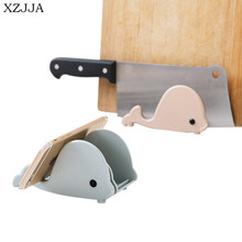 XZJJA Creative Multifunctional Whale Shape Sponge Sucker Storage Rack Kitchen Cutting Board Knife Holder Phone Holder Stand(China)
