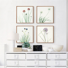Simple Small Flower With Leaves Mural Art Poster No Frame Spring Breathe Nordic Canvas Wall Drawing TV Sofa Background Ornaments
