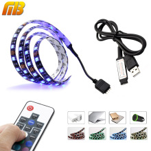 [MingBen] TV PC Background LED Strip Lighting 60LEDs/m DC 5V USB SMD5050 RGB With 17Key RF Controller 50cm 1m 2m Set 60Leds/M