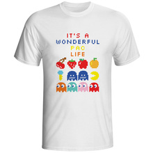 It Is A Wonderful Pac Life T-shirt Video Console Game Skate Style 70s 80s Design T Shirt Brand Punk Funny Women Men Top(China)