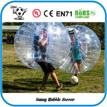 Free Shipping 4pcs (2pcs Red+2pcs Blue+1pc Blower)1.5M PVC Good Quality Bubble Soccer, Body Zorb Ball, Bubble Ball Suits.