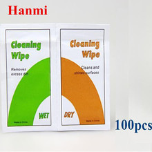 Tracking Number+100x Professional Camera Lens Cleaning Kit Wet + Dry Wipes Paper for Digital Camera Nikon Canon Lenses Clean