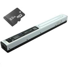 Skypix TSN451 High Speed USB Scanner 900dpi Color JPG/PDF A4 Document Scanner Portable Handy Paper Image Scanner W/8GB TF Card