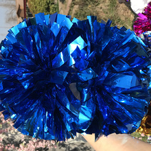 "Free Fast Shipping Cheerleader Fully Pom pom Metallic Royal 1,000*3/4"" * 6"" Cosplay  18pieces Custom Color"