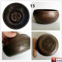 Tibetan Nepal singing  bowl good quality  thick and heavy  yoga practice music bowl  Buddha six words mantra bowl Free shipping