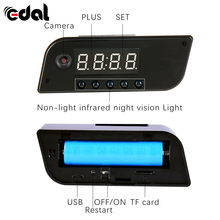 EDAL Fashion Mini Camera Clock Alarm AP/STA 1280x720 Night Vision Dowmland Vedio Wifi Cam IP Mini DV DVR Camcorder(China)