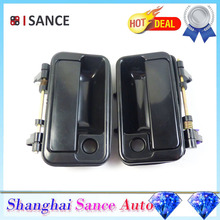 ISANCE Black Outside Door Handle Front Left Right Pair 820-60B02 82810-60B02 For Suzuki Swift 1989 1990 1991 1992 1993 1994