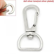 DoreenBeads Retail Carabiner Swivel Clasps For Key Ring Silver Tone 4x2.1cm,30PCs(China)