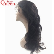 Queen Story Hair Peruvian Body Wave 360 Lace Frontal Closure With Baby Hair 100% Remy Human Hair Natural Hairline Bleach Knot