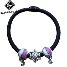 Norvin Women Hair Rope Hair Accessories With Hot Air Balloon Pendant Beads Hair Ring Girls Elastic Hair Bands Jewelry FQ022 Top(China)
