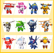 100% Brand Big 15CM ABS Super Wings Toys Deformation Airplanes Transformation robot Action Figures Toys For Christmas gift(China)