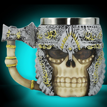 Free Shipping 1Piece 3D Axe Viking Warrior Skull Mug Battleax Tankard Halloween Essential Party Decoration Skeleton Drinking
