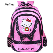 Hello Kitty Orthopedic Backpack Female Girl School Bags Primany SchoolBag For Girls Children Backpack sac a dos enfant