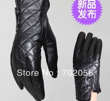 BEAUTIFUL Women Genuine goat leather gloves skin gloves LEATHER GLOVES mixed color SUPER QUALITY SOFT#3125