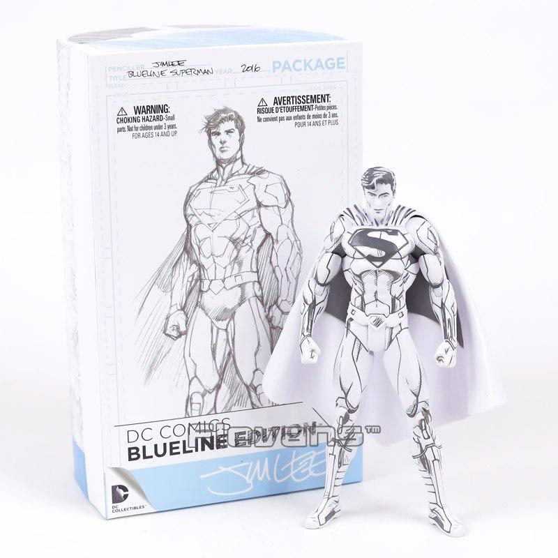 DC COMICS Superman / Batman Blueline Edition PVC Action Figure Collectible Model Toy<br>