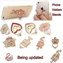 luxury perfume bottle Bling Diamond Mobile Phone Ring & tablets Holders & Stands Metal Finger Grip phone Stand hot sale