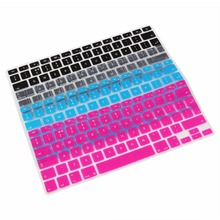 EU English Light Blue Rose Red Transparent Black Keyboard Protector Cover Keypad Skin Protector For Macbook Pro Air 13 15 17