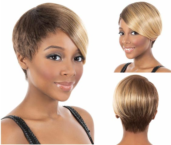 Women Short Straight Pixie Wigs African american wigs Blond hair short Side Bangs wigs for black Women synthetic hair fluffy wig<br><br>Aliexpress