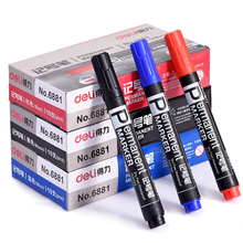 Large Black Red Blue Plastic Oily Waterproof Permanent Marker Pen Office School Supplies Free Shipping 2504
