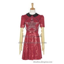 Who Buy The Doctor Cosplay Robot Of Sherwood Clara Oswald Costume Red Short Dress Female Halloween Party High Quality