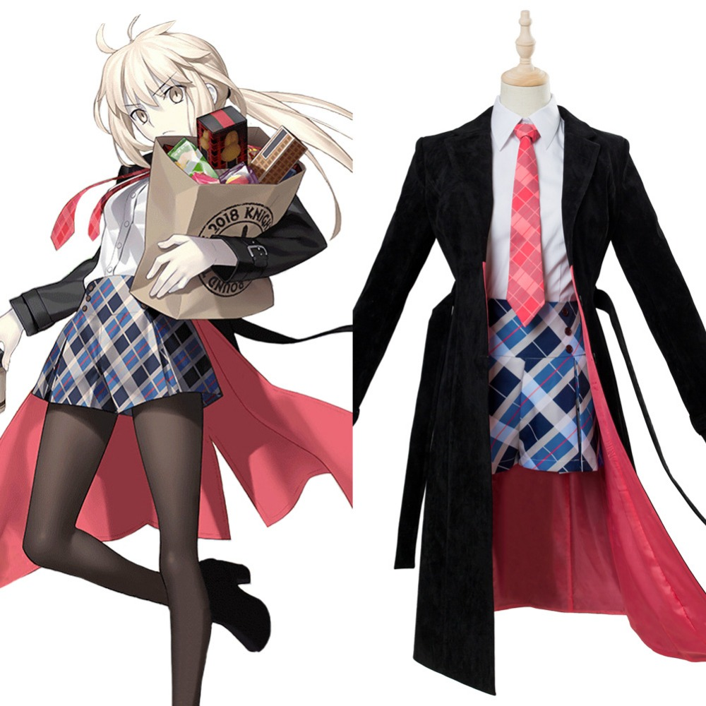 Fate Grand Order Cosplay Altria Pendragon Cosplay Costume Uniform Third Anniversary Outfit Halloween Carnival Costumes