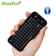 iPazzport 2pc Convenient Mini Wireless bluetooth Keyboard Air Mouse Full QWERTY keyboard for PC iPad tablet android/smart TV