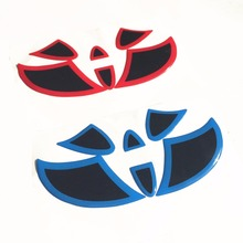 Car Sticker Front Rear Emblem Badge Steering Wheel Tail Logo Decal Cover For Toyota Highlander RAV4 Camry Corolla Prius Vios(China)